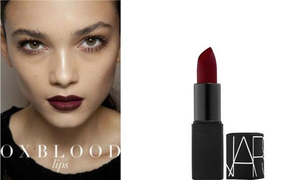 oxblood lips